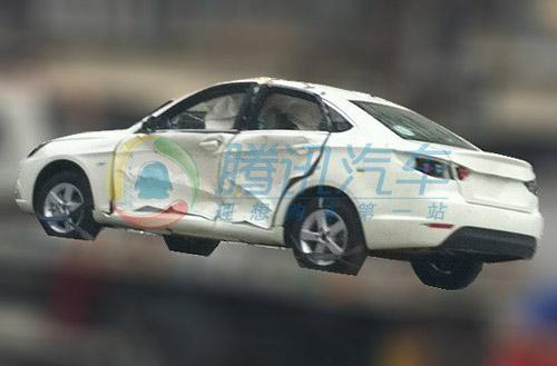 北汽首款a级轿车c50碰撞试验谍照曝光高清图片