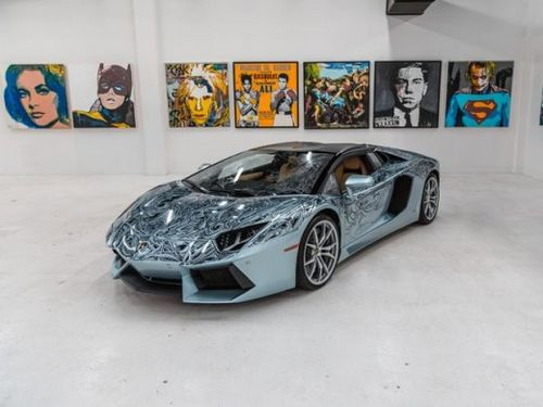 兰博基尼aventador手绘版合487万元 - 汽车资讯 -玩车坊; 兰博基尼