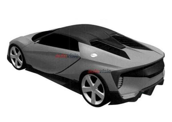 全新讴歌跑车专利图曝光 或为NSX敞篷版高清图片