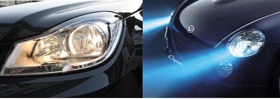 由于卤素大灯的亮度低、寿命短、照射距离近;氙气灯需要用上万伏的高压击穿惰性气体来发光,且有延迟,在恶劣天气下灯光发散影响安全性等等。这都促使了LED车灯的脱颖而出。LED灯光凭借其电压低、占用空间小、亮度高、反应速度快等等特性,被聪明的汽车厂家运用到了汽车灯光之中,这不乏是一种质的飞跃,更是一种聪明智慧的体现。 LED是汽车的安全之眼 由于LED车灯独有的特性,的确为汽车的安全性做出了不小的贡献。 首先,LED灯凭借着其高亮度的特点,将车灯所起到的警示和照明作用达到了新的标准。其亮度比卤素灯高很多,将
