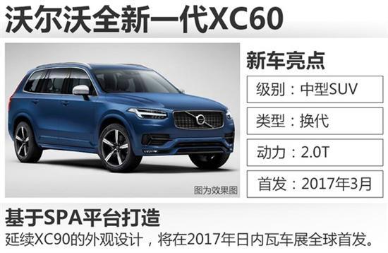 沃尔沃XC60换代 全新车型明年3月发布高清图片