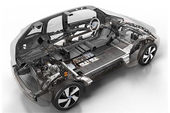 宝马i3车身结构解剖图