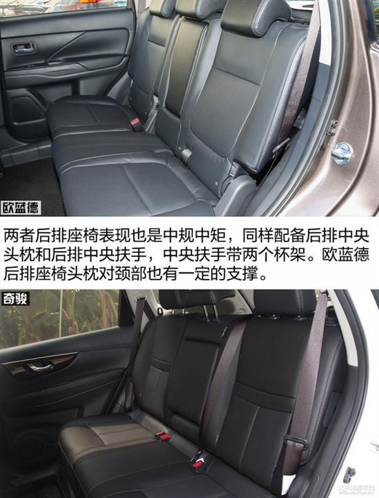 宽大的座椅和宽度足够的后排中央扶手