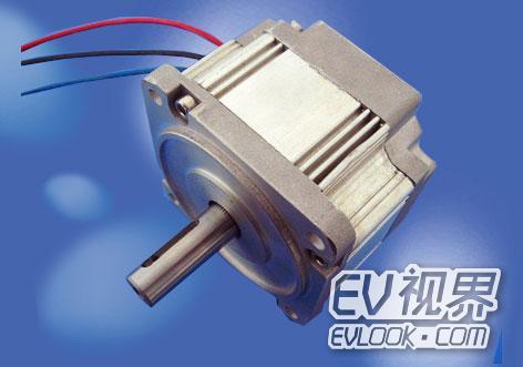 可以认为是一台由电子开关换相电路,永磁式同步电动汽车电机以及位置