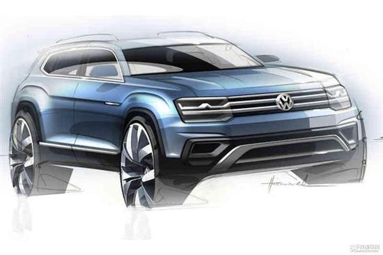 大众SUV假想图-一汽 大众新车规划 SUV将2018年推出高清图片