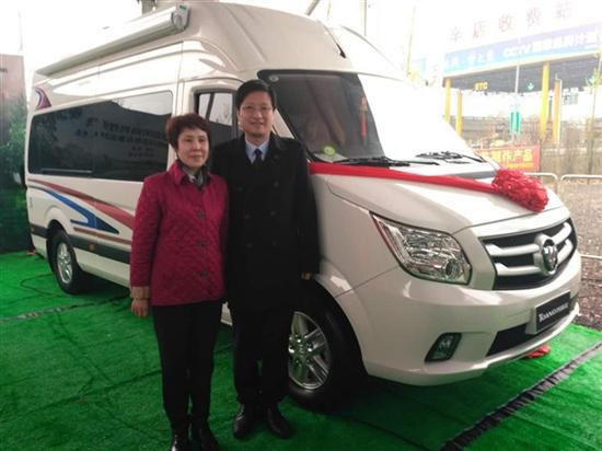 在北京房车博览会上,图雅诺房车和风景g9房车两款福田房车正式