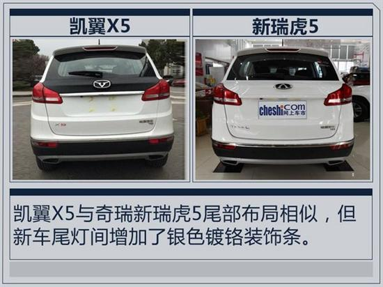 凯翼X5全新SUV 8月28日上市 竞争幻速S6高清图片