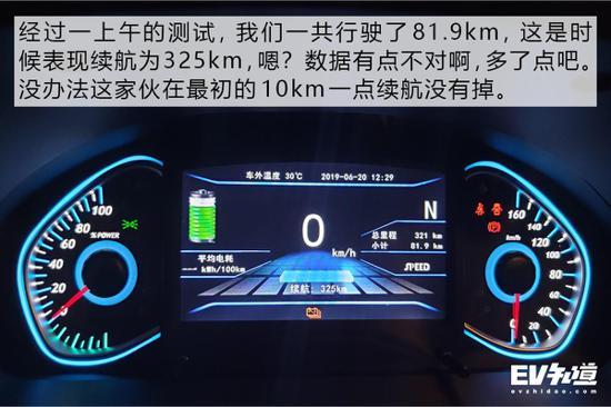 全网首测北体育汽新能源ec5