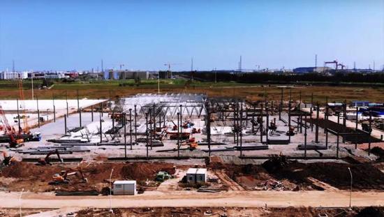 消息称特斯拉正在中国迅速建设电池工厂