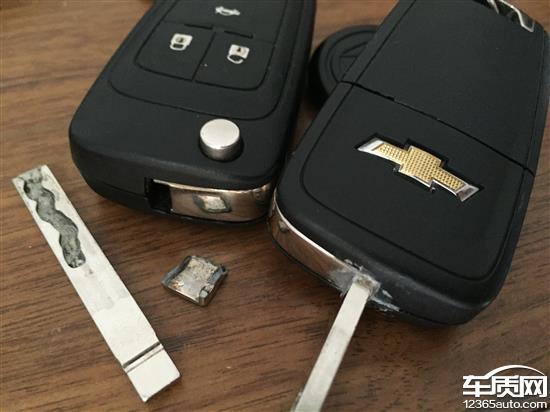 雪佛兰科鲁兹两把车钥匙都断裂了