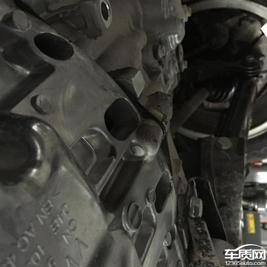 上汽大众朗逸发动机漏油刹车系统问题高清图片