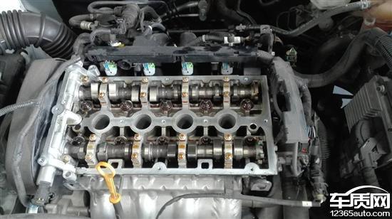 雪佛兰科鲁兹召回更换阀门后发动机拉缸高清图片