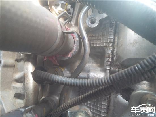 一汽丰田花冠发动机冷却液渗漏