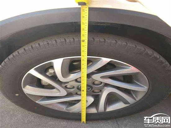 江淮瑞风S3前轮吃胎维修后车身左低右高高清图片