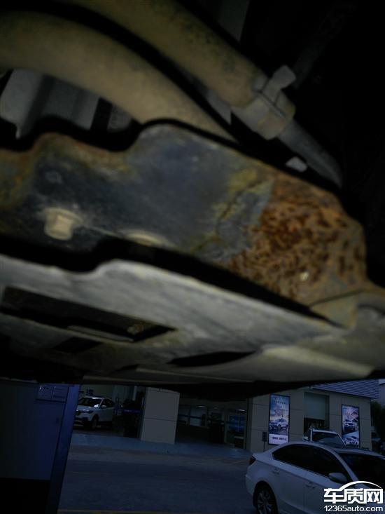 长安悦翔v5使用两年水箱支架严重生锈