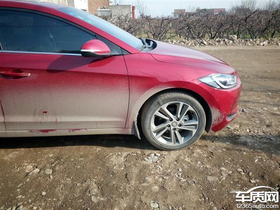 北京现代领动前面耐克森轮胎都出现鼓包_-_车质网