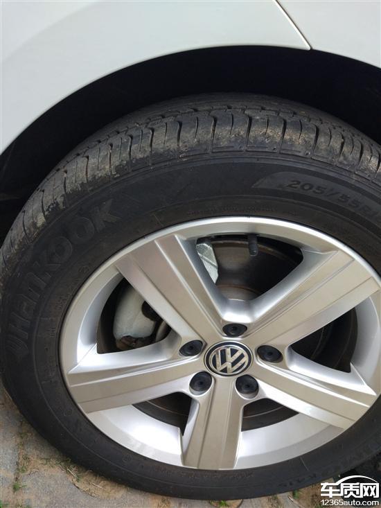 一汽大众高尔夫不到3000公里轮胎出现裂痕_-_车质网