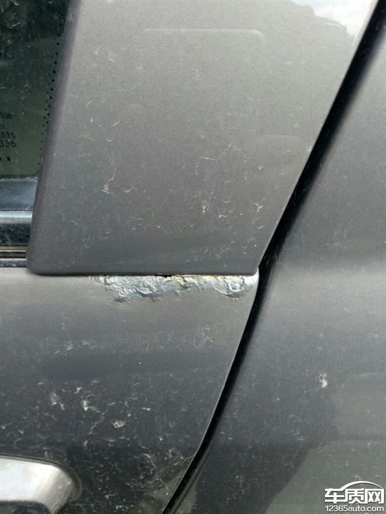 奇瑞E5车门生锈严重 车门已经锈穿高清图片