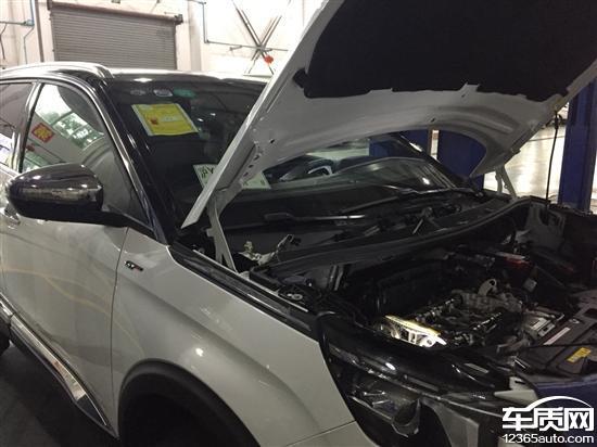 东风标致5008新车发动机正时齿轮故障高清图片