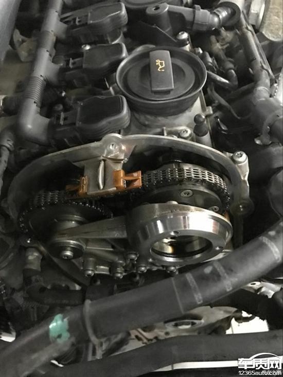 一汽大众迈腾发动机正时链条拉长属设计缺陷图片