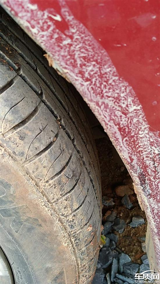 一汽马自达阿特兹韩泰轮胎起皮严重开裂_-_车质网