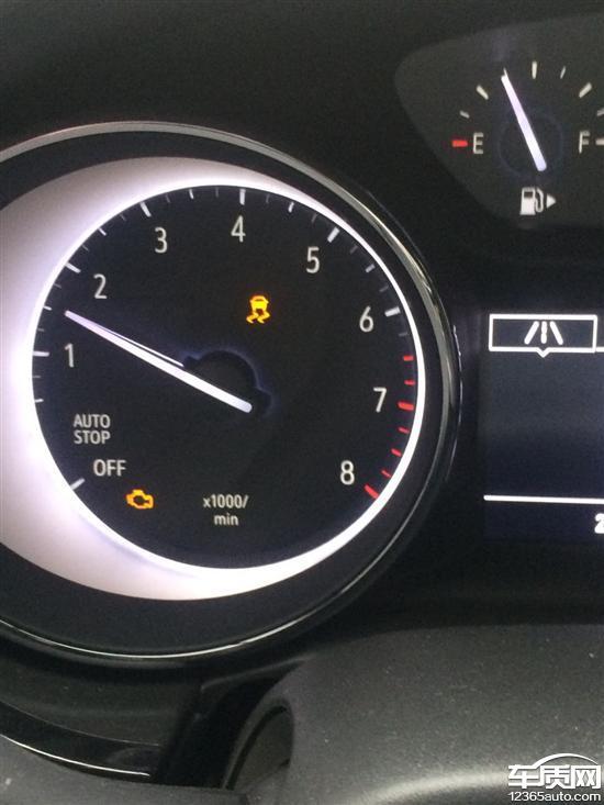 别克威朗发动机故障灯亮同时加速无力高清图片