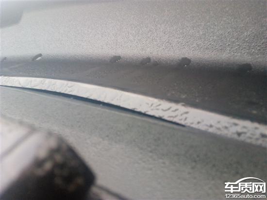 众泰T600 Coupe前挡风玻璃密封条脱落