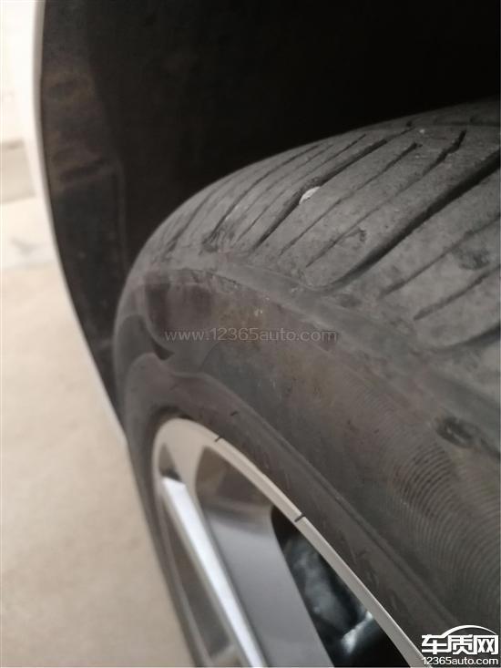 北京现代领动锦湖轮胎鼓包存在安全隐患