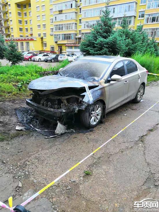 上汽荣威360疑似问题车辆影像发生自燃新福克斯三厢v问题质量图片