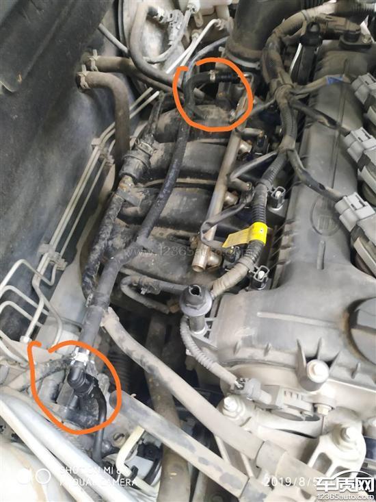 一汽吉林森雅R7燃油管漏油 安全带收不回去