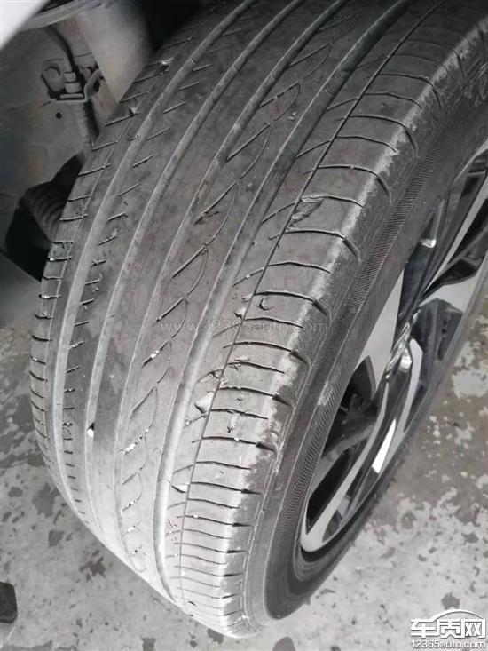 东风本田思域优科豪马轮胎异常磨损