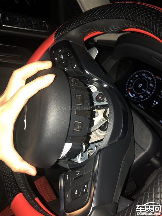 捷豹F-PACE方向盘安全气囊脱落存在安全隐患_-_车质网