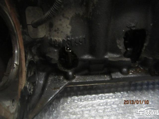 雪佛兰科鲁兹发动机中缸穿裂原因不明