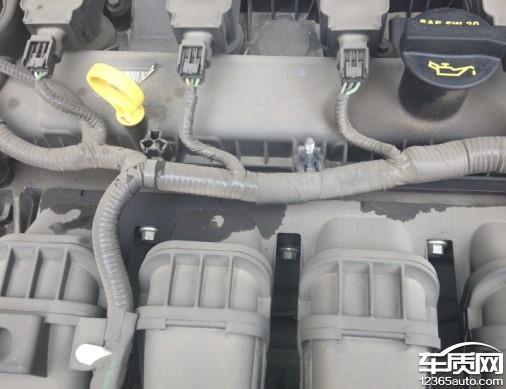 长安福特福克斯发动机变速箱漏油