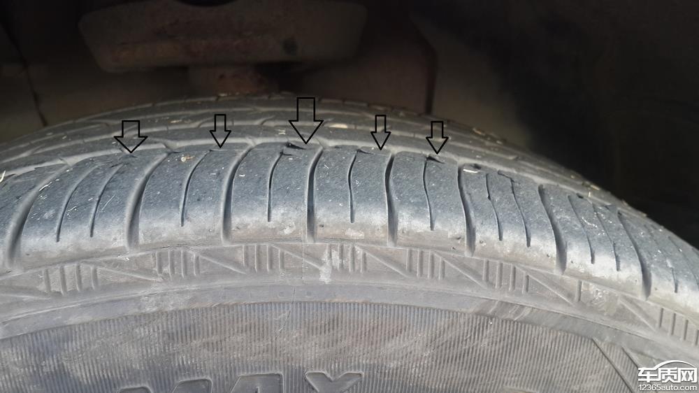 雪佛兰迈锐宝轮胎起皮严重高清图片