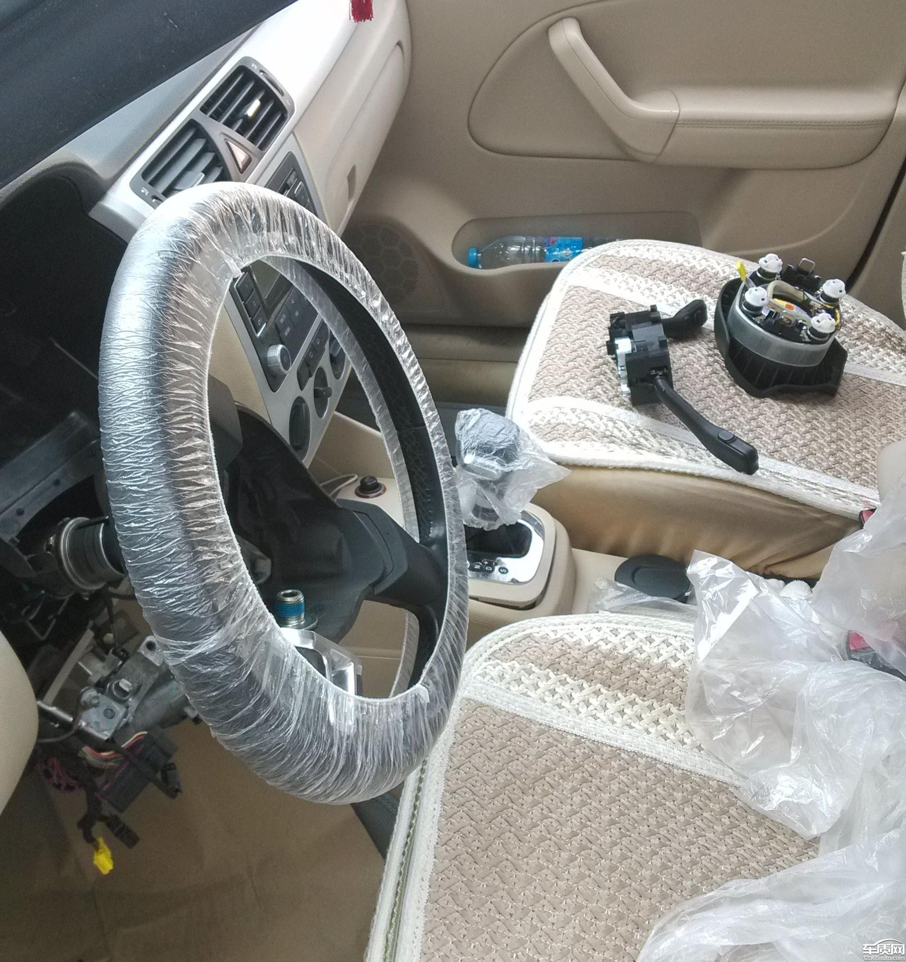 一汽大众宝来方向盘锁死全套锁控系统需更换