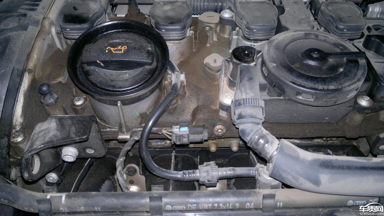 一汽大众迈腾发动机烧机油窜油
