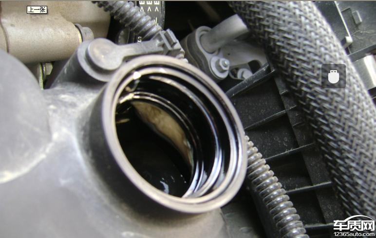 雪佛兰赛欧发动机机油出现严重乳化现象高清图片