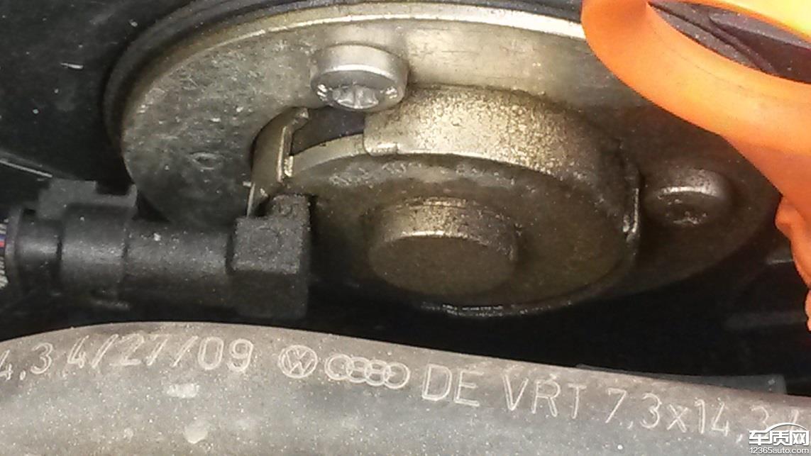 斯柯达明锐水泵渗漏发动机油封渗漏