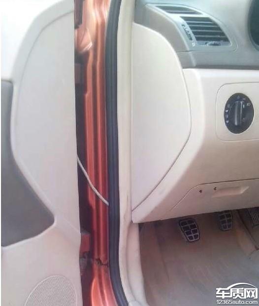 奇瑞风云2车框锈蚀高清图片
