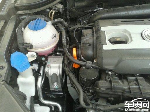 一汽-大众迈腾发动机冷却液水壶爆裂