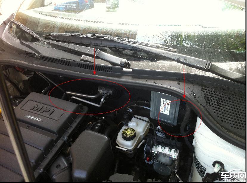 一汽大众捷达发动机舱漏水高清图片