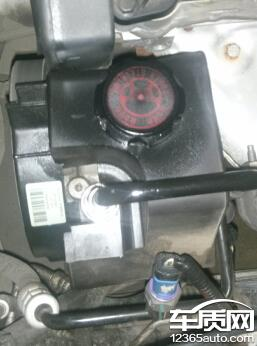东风雪铁龙世嘉转向助力泵的盖子浸油