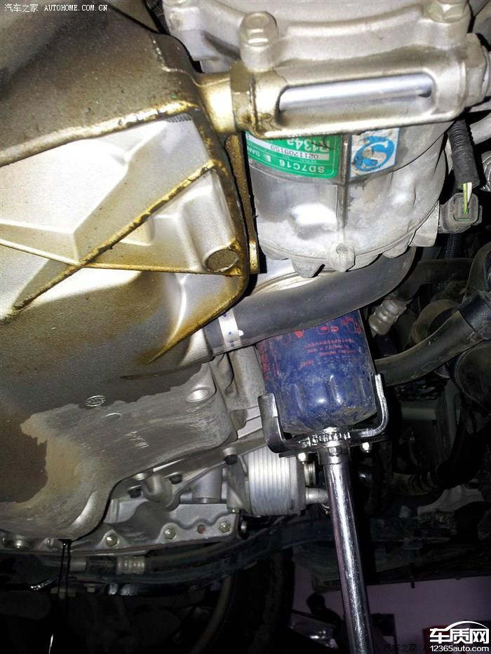 东风雪铁龙c5发动机底部机油渗漏