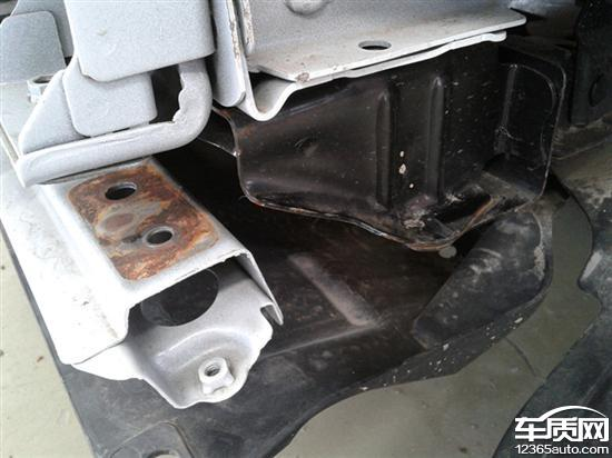 长安cs75车身钢板结合处生锈