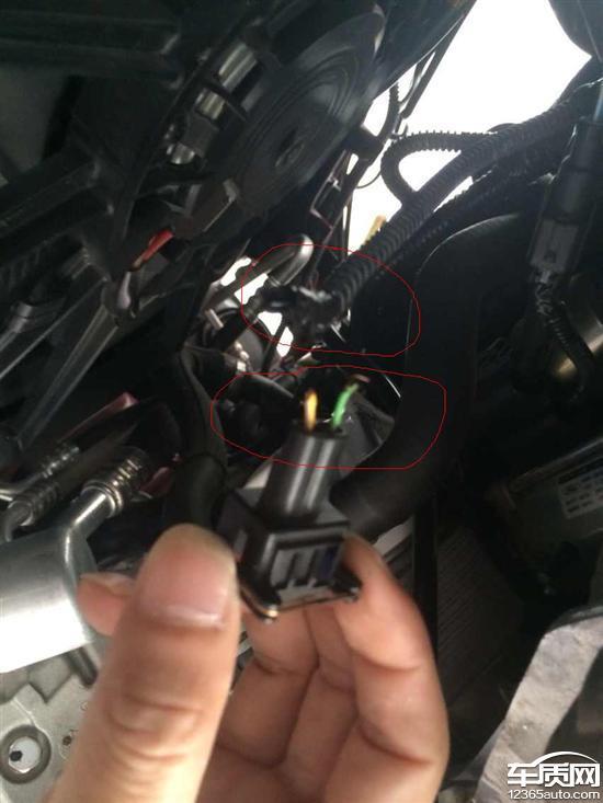 长安福特福克斯曲轴传感器线束断裂