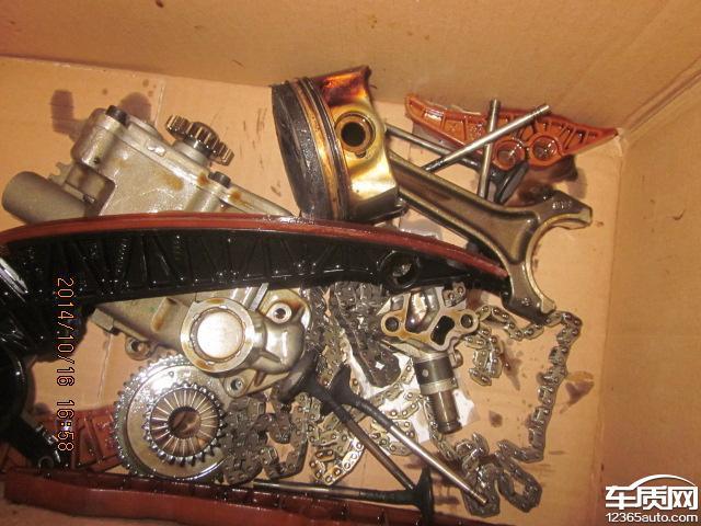 一汽大众迈腾正时链条导致发动机损坏