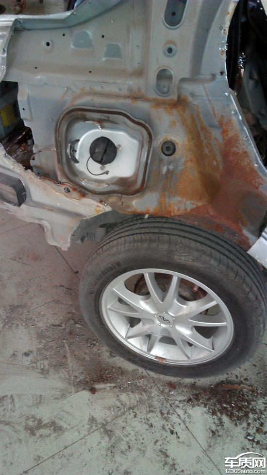 奇瑞风云2车身生锈要求更换整个车身高清图片