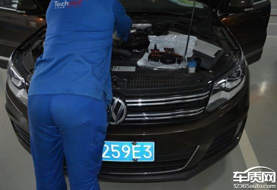 上海大众途观发动机漏油多次维修未解决高清图片