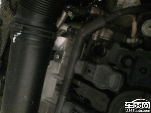 上海大众途观发动机盖帽漏油高清图片